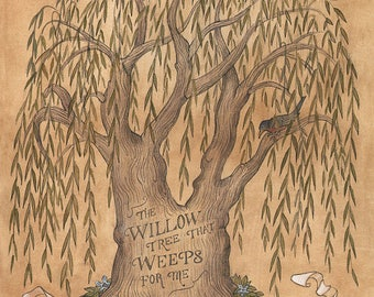 The Willlow Tree That Weeps For Me - Original Framed Painting