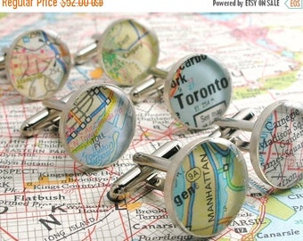 SUMMER SALE Gifts for Groom from Bride, Cufflink, Custom Map Cuff Links, World Map Cufflinks, Custom Cufflinks, Map Cufflinks