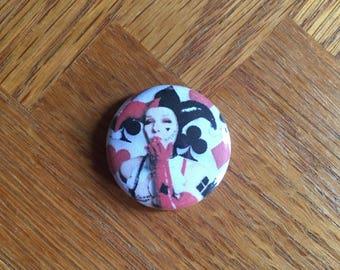 Harley Quinn Kiss 1 inch pin