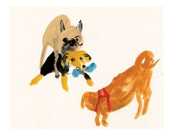 Giclee Print    Tales from the Dog Park    FAYE MOORHOUSE
