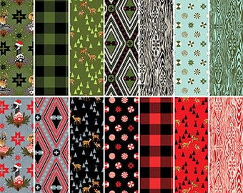 FQ Fabric Bundle - Tula Pink Holiday Homies - 14 Pieces - Entire Collection Fat Quarters