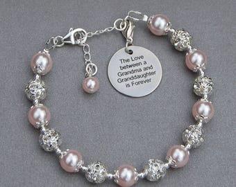 Grandma Granddaughter Gift, New Grandma, Granddaughter Jewelry, Grandma Present, Grandmother Bracelet, Gift for Grandma, Gran Bracelet