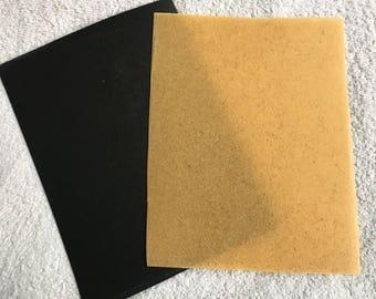 "Worbla Sample Sheet in Beige or Black 7.5"" x 10"" Worblas Finest Art and Worblas Black Art"