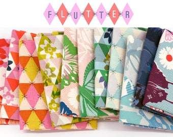 Flutter fabric bundle - Cotton + Steel fabrics - 100% quilting cotton - 11 pieces, fat quarters, fat eighths, or half yards