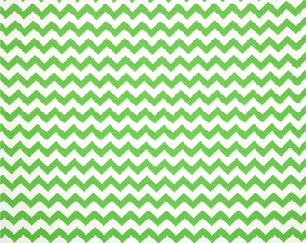 HALF YARD - Chevron, Zig Zag, Green and White,  100% Cotton by the yard  SALE