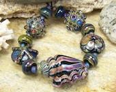 Lampwork Seashell Bead Set (11)