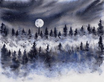Nothing Beautiful is Always Clear WATERCOLOR painting