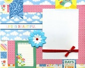 Life is Beautiful - 12x12 Premade Scrapbook Page