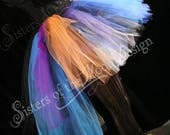 SALE Midnight sunset Adult tutu skirt extra poofy party new years roller derby costume goth gypsy-- Small -- READY TO Ship -- Sisters of the