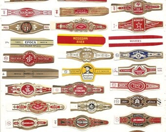 350 CIGAR BAND Labels -new old stock cigar bands 1930s+ Due to the continuing Ofac sanctions against Cuba origin of labels All from u.s.