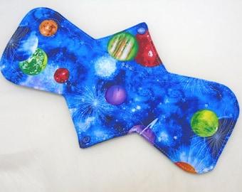 "12.5"" Heavy - Planets - Reusable Cloth Menstrual Pad (12HC)"