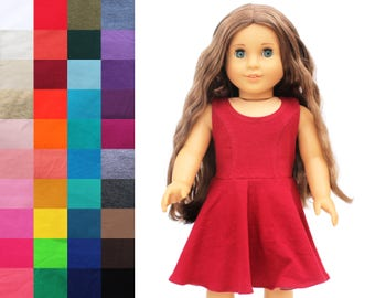 Fits like American Girl Doll Clothes - The Everyday Princess Dress, You Choose Color
