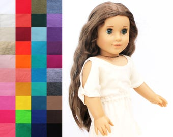 Fits like American Girl Doll Clothes - Trendy Cold Shoulder Dress, You Choose Color