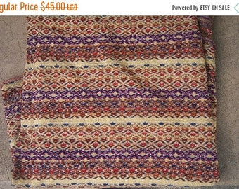 30% MOVING SALE Vintage 70s Space Dye knit fabric yardage, 66 x 78 inches / boho mod ethnic print micro knit fabric