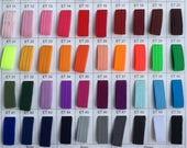 6mm Flat Elastic tape, stretch sewing elastic, hair tie elastic, bright coloured elastic, DIY headband sold by the yard