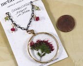 Oregano in Bloom, adorned necklace