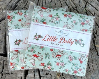 SALE 2 Packs 5 inch charm pack squares fabric LITTLE DOLLY by Penny Rose Fabrics from Elea Lutz