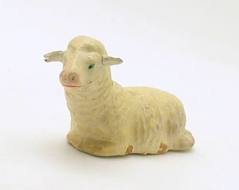 Antique Miniature Lamb Figurine Sheep Germany