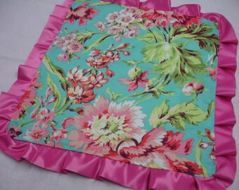 Bliss Bouquet Rose Cuddle Lovey with Satin Ruffle 17 x 19 READY TO SHIP On Sale