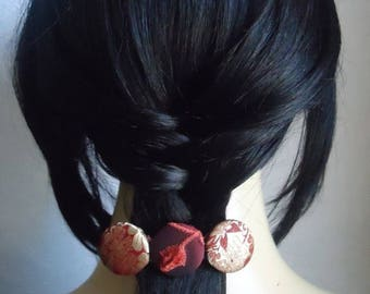 CLEARANCE - Red gold  barrette, hair clip, hair accessory, hair barrette, ponytail holder