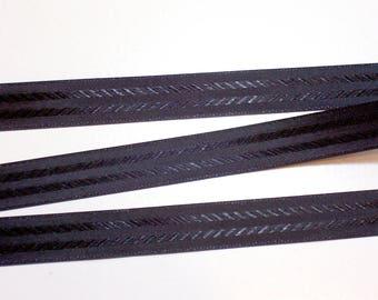 Vintage Black Seam Binding 1/2 inch wide x 10 yards, Coats & Clark Seam Binding Tape