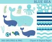 Blue Under The Sea Clipar...