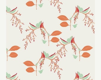 20EXTRA 40% OFF Reminisce Branchlets Porcelain - 1/2 Yard