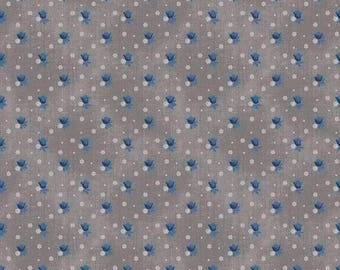 ON SALE Emily Hayes for Penny Rose Something Blue Floral Gray