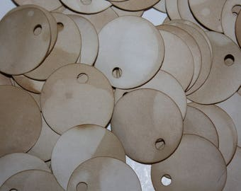 Price Tag set of 50 Round Circle 1 1/2 Tea Stained Product Tags