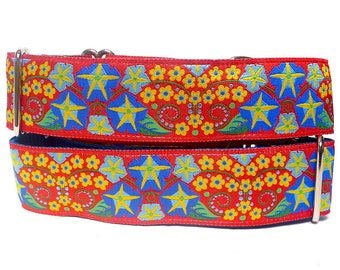 GreytEscape's JUBILEE Greyhound or Sighthound Martingale or buckle Collar