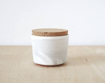 mini cork jar, cream : SECONDS SALE