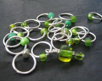A Dose of Lime - Non-Snag Stitch Markers - Choose Your Size