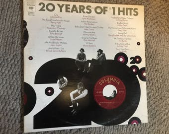 20 Years of #1 Hits Double Vinyl Record Album  NEAR MINT Johnny Cash The Byrds Blood Sweat and Tears Janis Joplin The Raiders Johnny Mathis