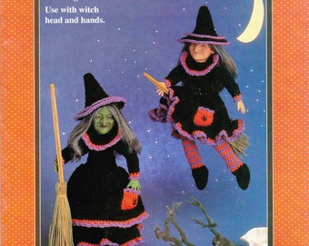 witch doll pattern, witch crochet pattern, crochet witch pattern, fibre craft pattern, tabitha witch pattern,