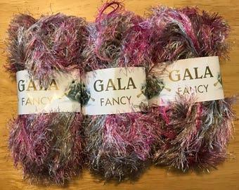 GALA FANCY Eyelash Yarn 3 skeins