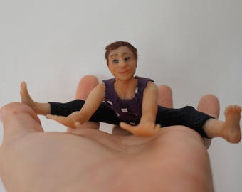 Yoga Doll - ooak 12th scale miniature dollhouse doll CPoppets