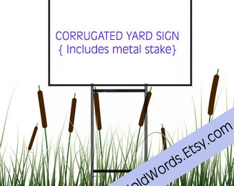 Make Our Planet Great Again -Custom Corrugated Yard sign - Both Sides