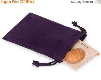 memorial day sale 100 Pack Grape Vineyard Purple Velvet Drawstring Bags great for Weddings, Party favors, Jewelry, Etc
