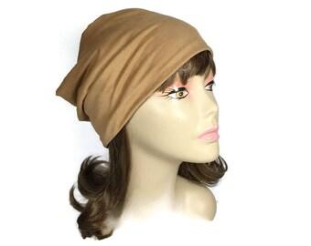 Faux Suede Slouch Hat Faux Suede Slouchy Beanie Unisex Vegan Slouch Hat Butterscotch Reversible Slouchy Hat Beige Faux Leather Slouchy Hat