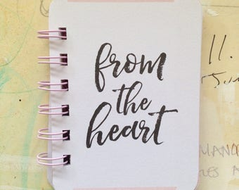 From the Heart - Mini Jotter Notebook