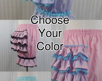 Choose Your Color fancy ruffle short mini bloomers fairy decora pop kei adult women