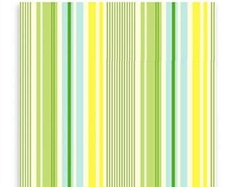 CLEARANCE SALE Heather Bailey OCHB01 Slim Dandy Blue Laminate Fabric By Yd