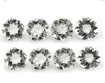 Sale 45% off 10Pcs AAA Natural Rock Crystal Quartz Cut Round Size 10x10MM