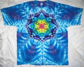 tie dye shirt, 3xl mandala tye dye, gildan ultra cotton tee, tie dye t shirt by GratefulDan