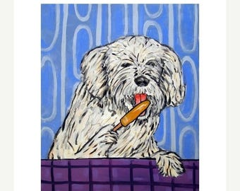 20 % off storewide Havanese with a Popsicle Dog Art Print