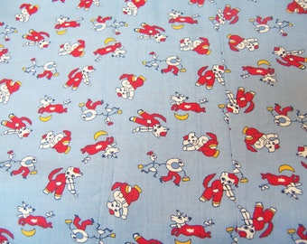 cow jumped over the moon cotton fabric