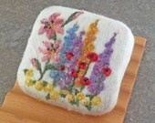 Felted Soap - Magnolia Rose Scented with a Floral Garden Theme
