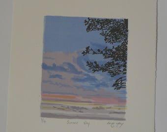 Sunset Sky Screenprint