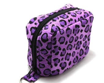 Summer Clearance Essential Oil Case Holds 6 Bottles Essential Oil Bag Purple Leopard Print