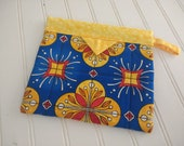 Snap Bag - Blue and Yellow Tiles